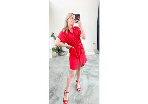 ZITA SHORT DRESS - RED