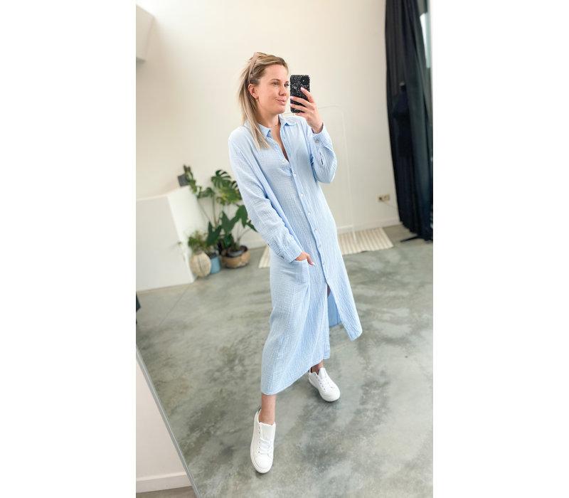 MONA BLUE TETRA DRESS - TU