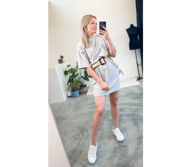 CELINE T-SHIRT DRESS GREY - TU