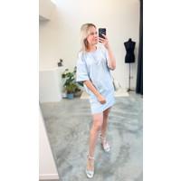 CELINE T-SHIRT DRESS BLUE - TU