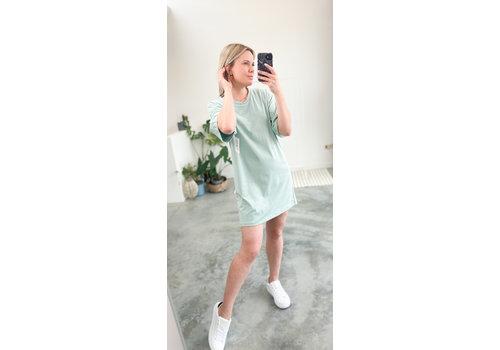 CELINE T-SHIRT DRESS MINT - TU