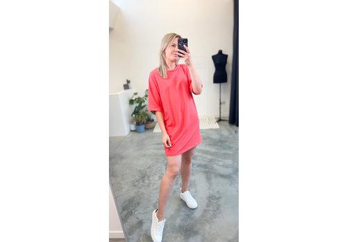 CELINE T-SHIRT DRESS RED - TU