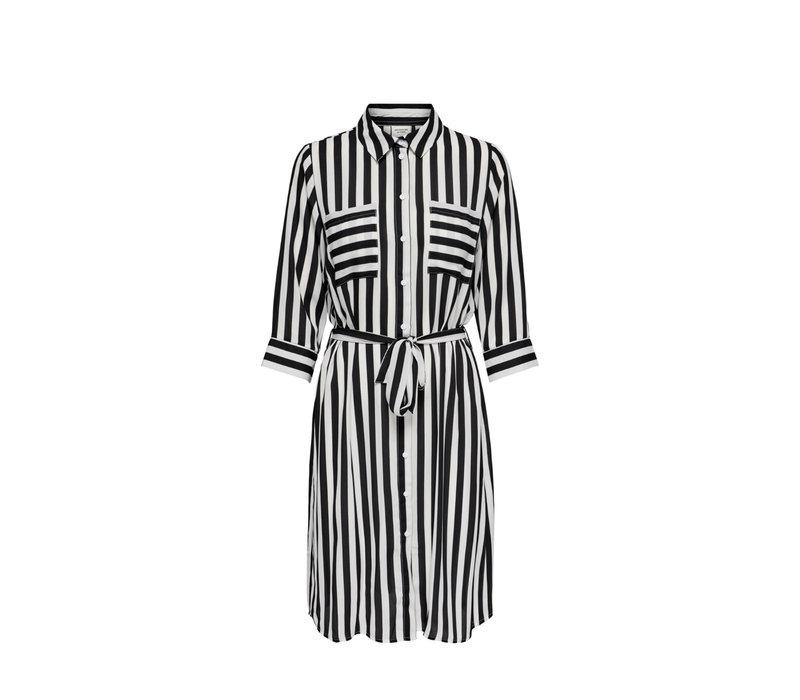 SINUS SHIRT DRESS BLACK