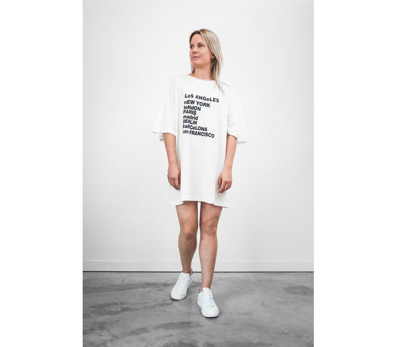 ALL AROUND THE WORLD T-SHIRT DRESS - TU