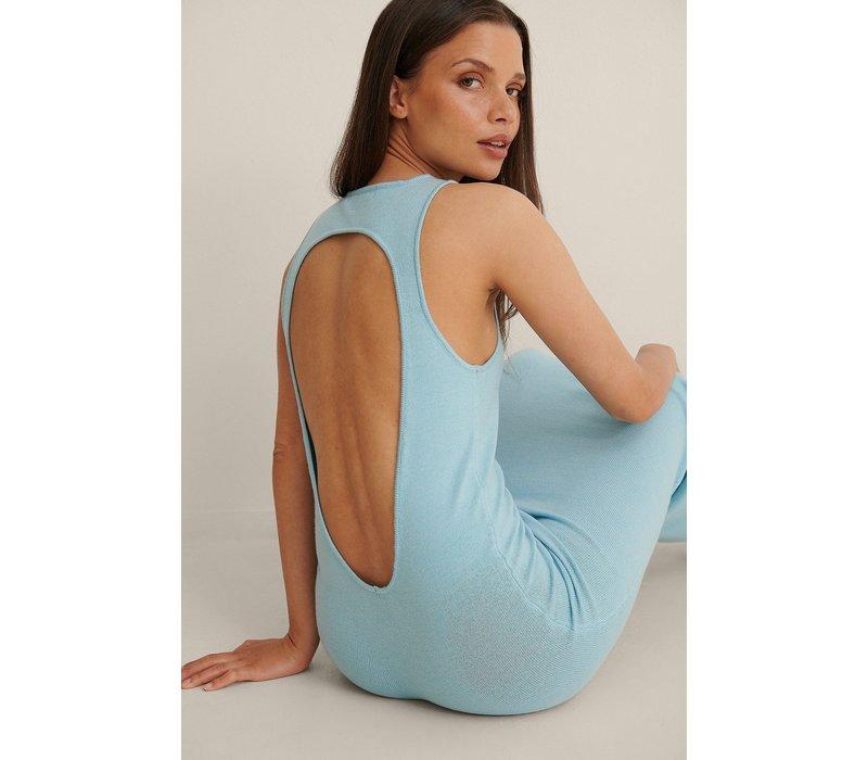 OPEN BACK DRESS - SKY BLUE