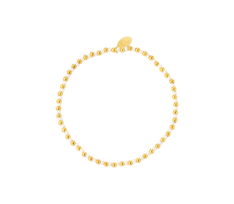 PEARL BRACELIT GOLD & WHITE