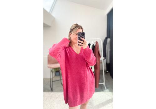 JANE KNIT DRESS - RASPBERRY