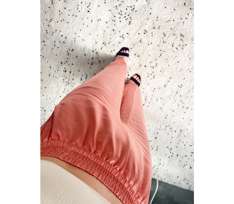 BLOOM SATIN PANTS - PINK
