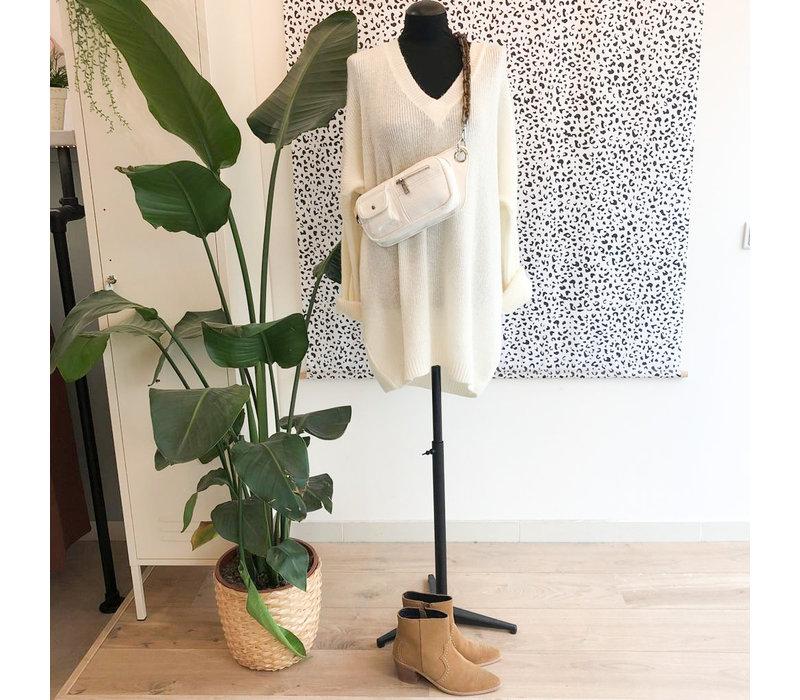 JANE KNIT DRESS - CREAM