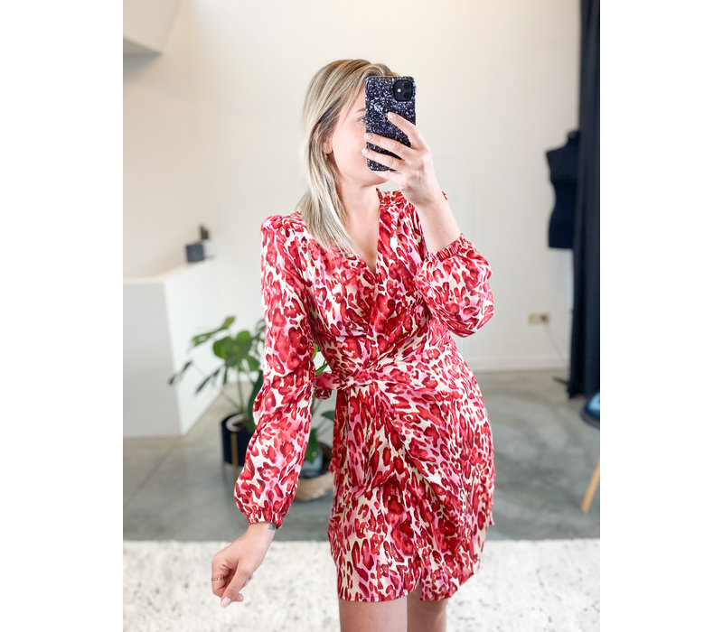 RED CHEEKY DRESS