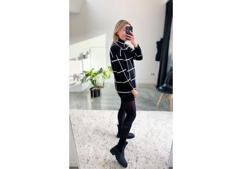 SANNE BLACK AND WHITE DRESS - TU