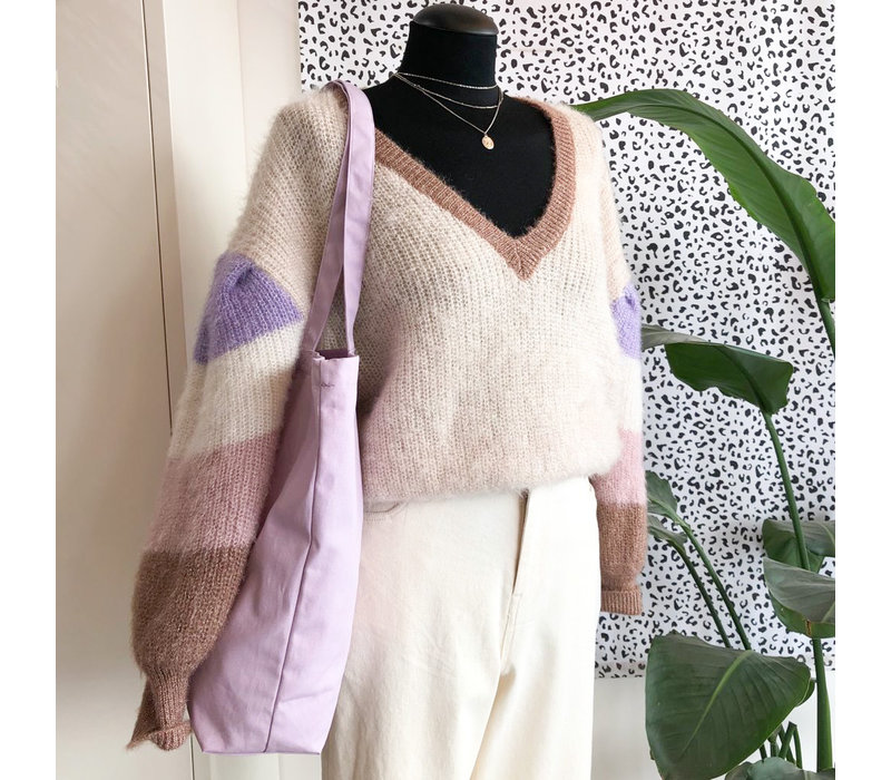 JANIE TOUCH OF GLITTER WITH LILA KNIT