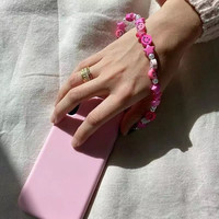 PLAYFUL PINK PHONE CORDS