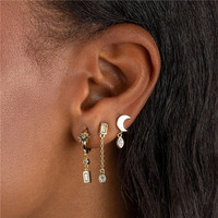 MOON EARRINGS SET