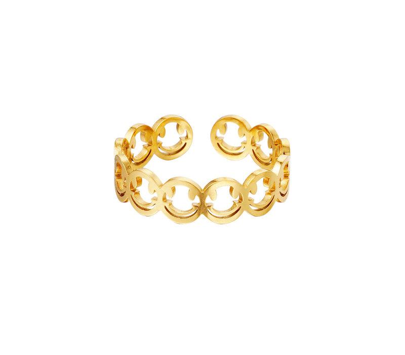 SMILEYS RING - GOLD