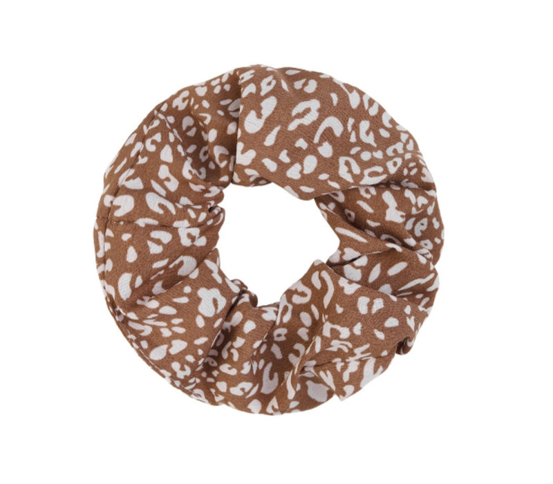 BROWN SPOTTED SCRUNCHIE