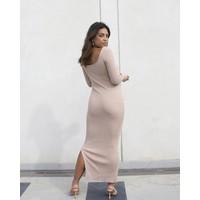 MIKAELA BEIGE DRESS