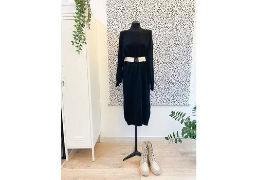 BELLE KNIT DRESS BLACK - TU