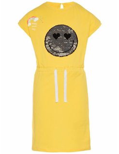 NKFHAPPY ELISE SS SLIM DRESS LIC Empire Yellow