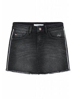 Celia Denim Skirt Dark Grey Denim
