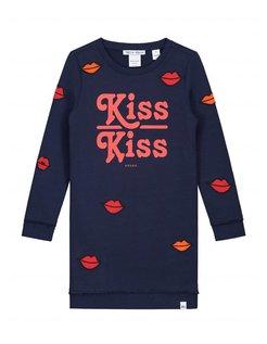 Babe Kiss Sweatdress Dark blue