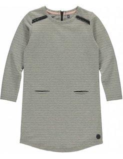 AIDEEN Grey Melee Stripe Dress