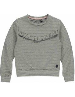 ALEXANDREA Grey Melee Stripe Sweater