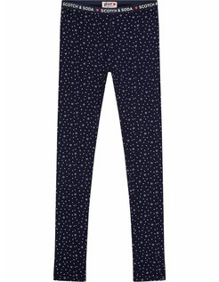 Allover printed basic Legging blue