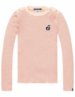 Rib Shirt Pink Stripe