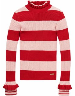 Pull-over Rib Slim Fit Stripe