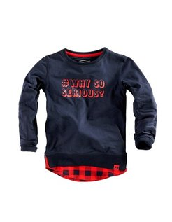 Boyd Longsleeve Blue/Red pepper
