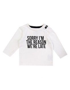 Beebielove Long-Sleeve Sorry WHT