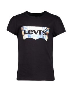 Zwart met zilver logo T-shirt