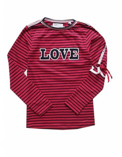 Top Carin red/navy stripe