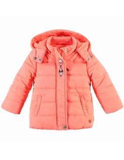 Baby girls jacket Neon Coral