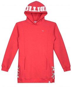 Ambitious Girl Sweatdress Soft Red