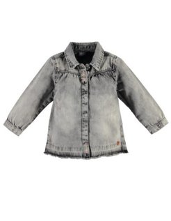 Girls blouse l.sl. Grey Denim