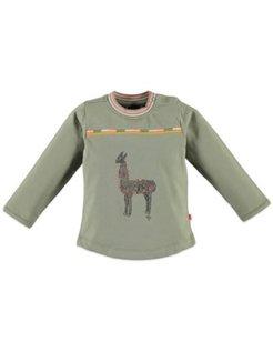 Girls t-shirt l.sl. Army Green