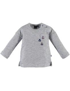Girls t-shirt l.sl. Steel Blue
