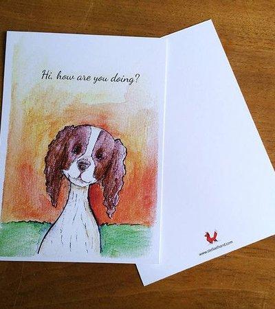 Postcard Hund