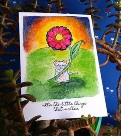 Postkarte Kleine Maus