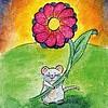 By STEL.EL Postkarte Kleine Maus