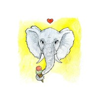 Postkarte Elefant