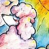 By STEL.EL Postcard Poodle Cloud