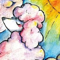 Postcard Poodle Cloud
