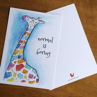 Postcard Giraffe