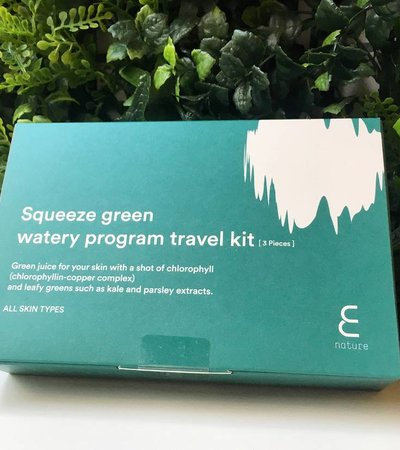 Squeeze Green Watery Program Travel Kit [3 pieces]