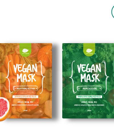 Brightening Moisture Vegan Mask (27ml x 5pcs)