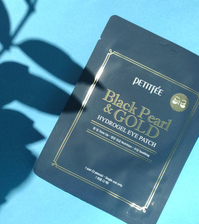 Black Pearl & Gold Hydrogel Eye Patch (single use)