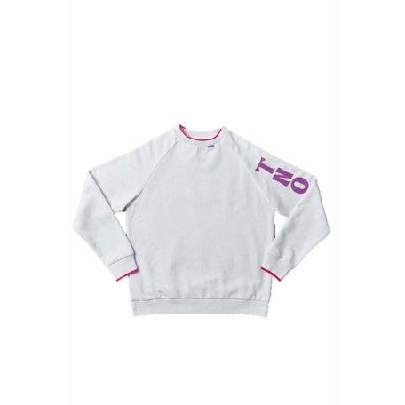 TNO line groove sweater white